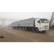 Бортовой автопоезд зерновоз Камаз 65115,  объем 68 куб.м